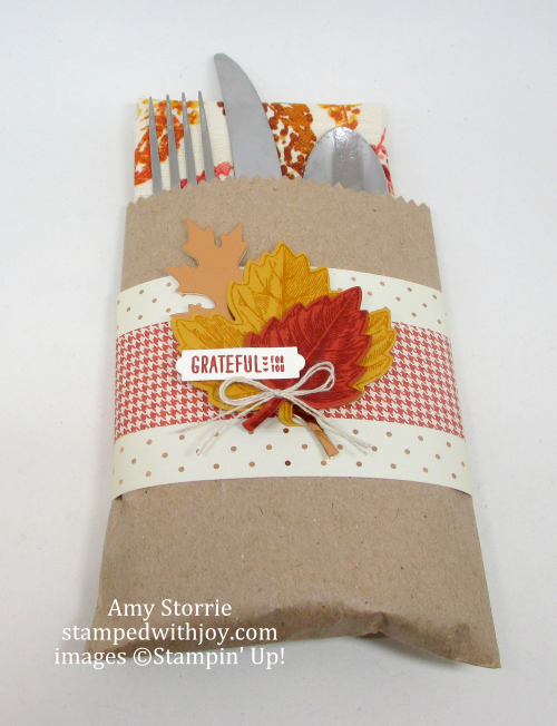 Vintage Leaves place setting holder