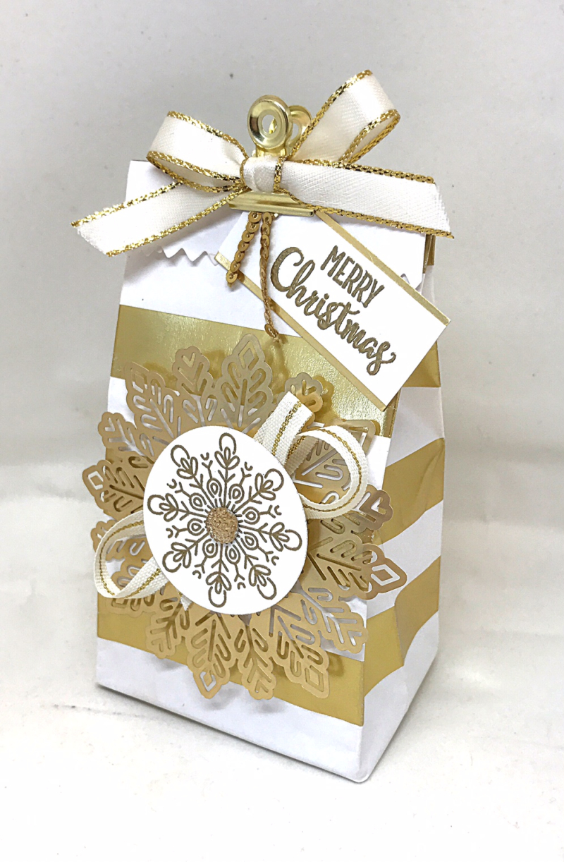 Gold treat bag