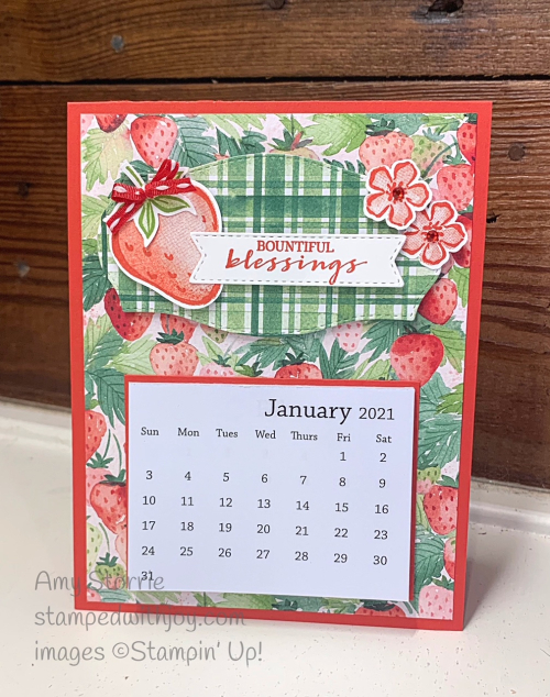 Sweet Strawberry calendar